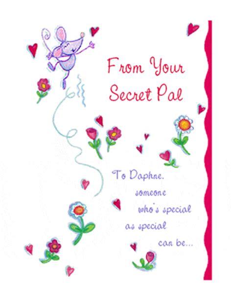 secret friend poem secret pal greeting card s day printable card