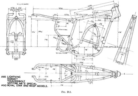 a frame blueprints bsa a65 and a50 frame motorcycle engines and blueprints