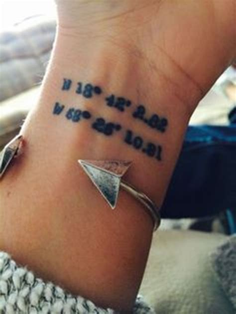 coordinates tattoo ideas 18 stylish coordinate wrist tattoos
