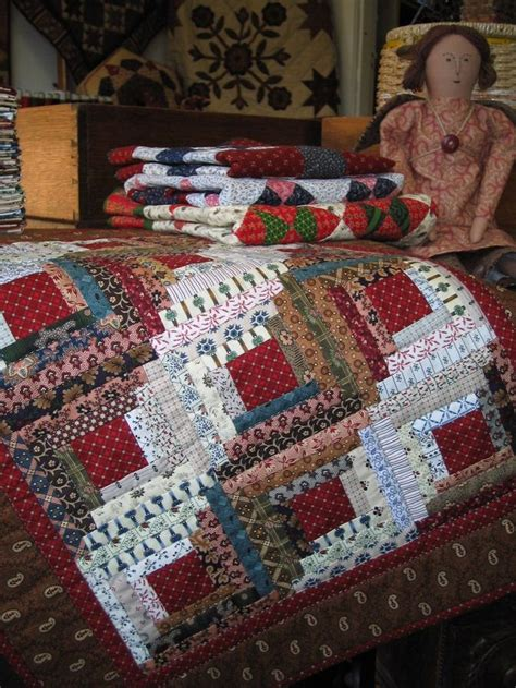 Log Cabin Patchwork Patterns - i loooove log cabin patterns quilting sewing fabric