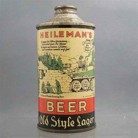 7 Vintage Looks by Heilemans Style Lager L177 7 Cone Top Beercan