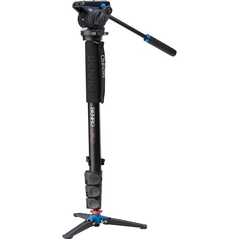 monopod with benro a48fds4 series 4 aluminum monopod with 3 leg a48fds4 b h