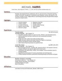 accounting finance resume exles accounting