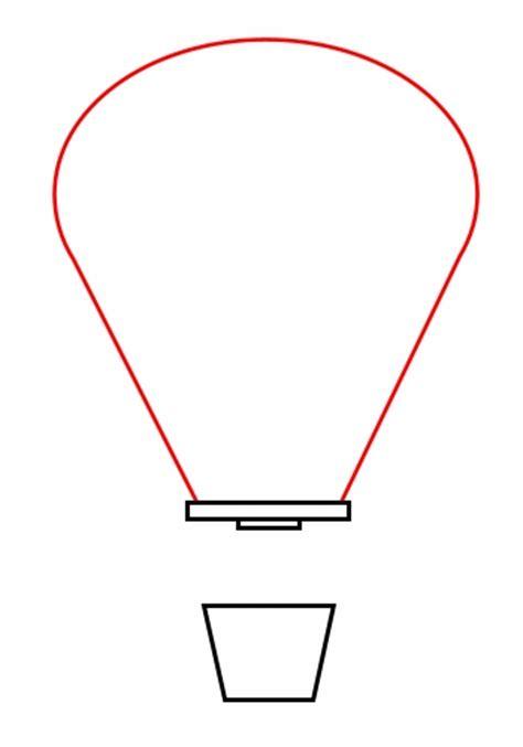 air balloon template drawing a balloon