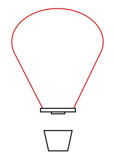 Drawing a cartoon balloon