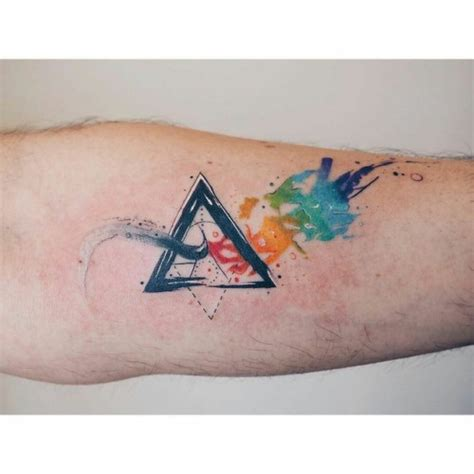 watercolor tattoo tumblr triangle on