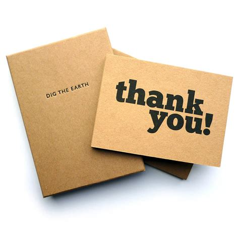 Handmade Thank You Notes - set of 12 thank you note cards by dig the earth
