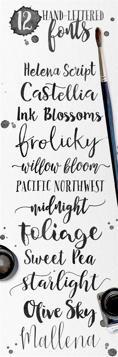 font design hand skyla design 12 hand lettered fonts for your creative