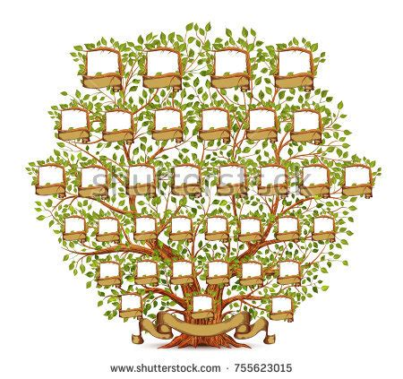 Ancestry Stock Images Royalty Free Images Vectors Shutterstock Family Tree Template Vintage Vector