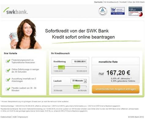 swk bank kredit ohne schufa der bonit 228 tsabh 228 ngige kredit der swk bank im check 2012