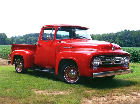 ford truck red 1956 ford f100 truck box 1956 free engine image for user