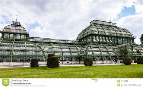 pavillon schönbrunn palmenhaus palm house pavilion schonbrunn garden stock