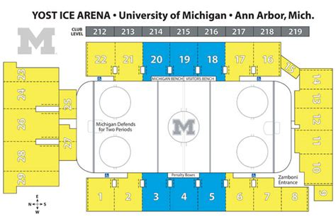 number of sections in an ice hockey rink mgoblue com university of michigan official athletic site