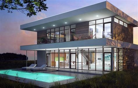 energy efficient modern house plans casas modernas vidriadas