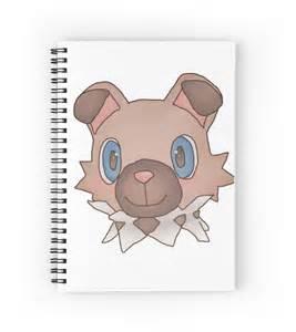 Bunny Wall Stickers quot cute iwanko rockruff pokemon quot spiral notebooks by neo