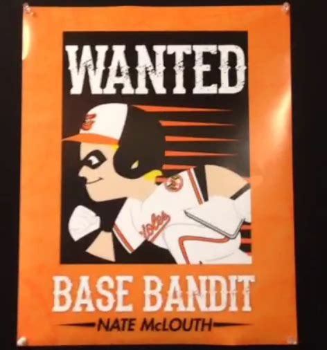 Baltimore Orioles T Shirt Giveaway - o s announce nate mclouth quot base bandit quot t shirt giveaway