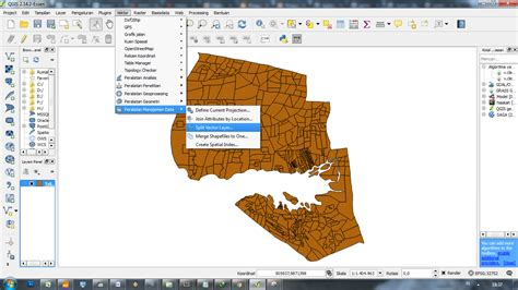 tutorial qgis bahasa memecah peta vektor sesuai dengan atribut yang sama