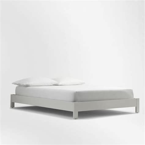 Low Bed Frames Simple Low Bed Frame White West Elm
