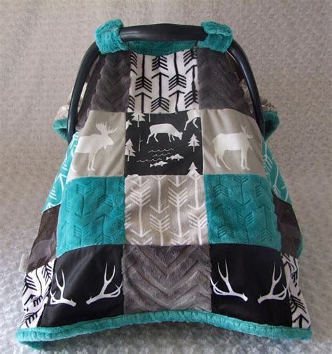 minky car seat covers woodland minky car seat cover deer car seat canopy blanket