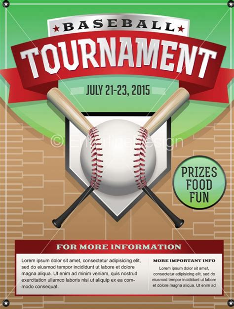 baseball fundraiser flyer template 25 baseball flyers psd vector eps jpg