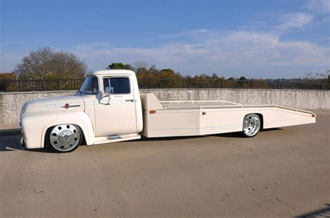 truck car ford 56 ford f350 car hauler trucks and cars