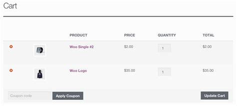 woocommerce page templates how to remove woocommerce product images from the cart