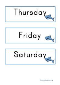 theme names for days of the week 17 best images about ocean preschool theme on pinterest