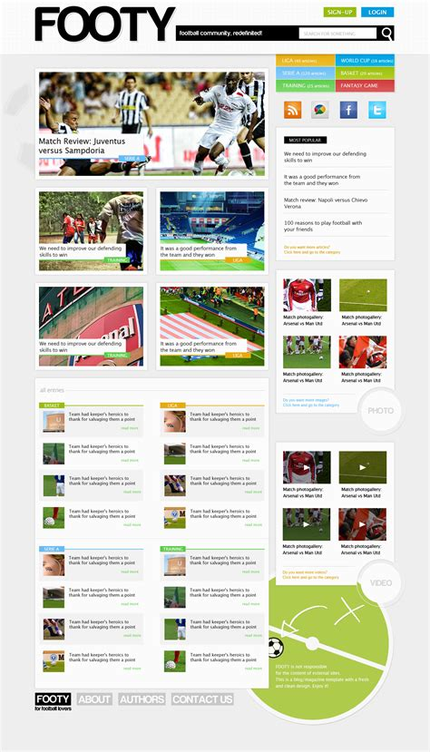 web layout styles design a clean sports web layout in magazine style with