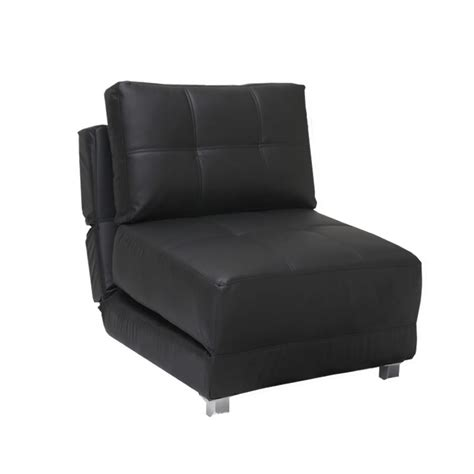 Rita Faux Leather Futon Chair Bed In Black Next Day