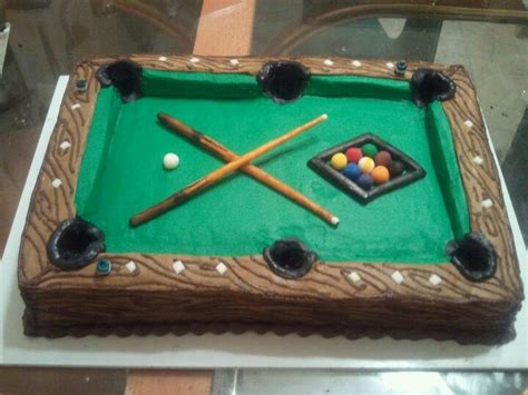 9 pool table cake ready set bake
