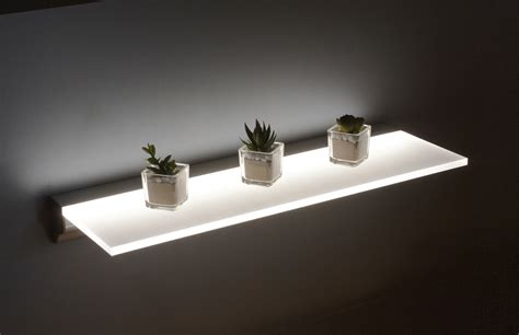 floating shelves with led lights led floating shelf category