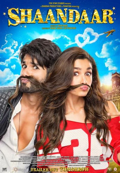 film india oh saiba oh pout check out shahid alia s new shaandar poster