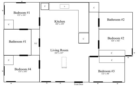 floor plan sle with measurements 88norwich
