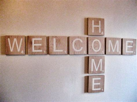 scrabble wall ideas scrabble wall welcome sign welcome home large by
