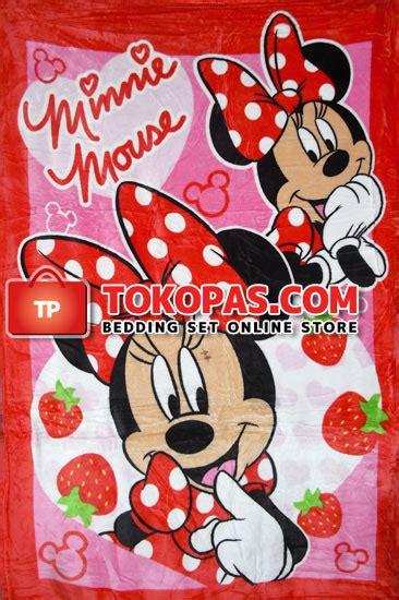 Sprei Strawberry Picnic Uk120x20025 selimut penthouse bulu lembut motif baby anak dewasa murah
