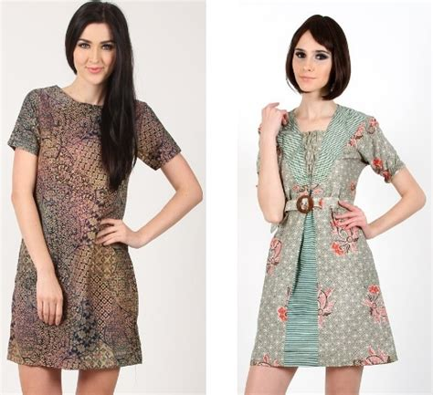 Rok Pendek Batik B31117001mot27 Bawahan Cewek Lucu Terbaru Batik Sogan 34 model baju batik kombinasi polos untuk wanita modis
