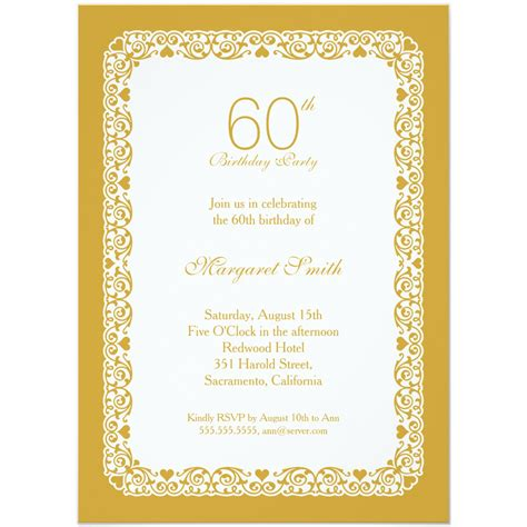Invitation Letter For 60th Birthday 60th Birthday Invitations Theruntime