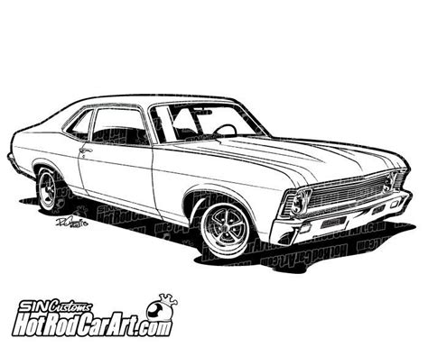 classic cars drawings 1969 chevrolet nova muscle car clip art chevrolet