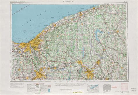 ohio physical map cleveland topographic maps oh pa usgs topo
