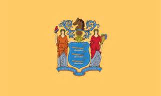 new jersey state colors flag and coat of arms of new jersey