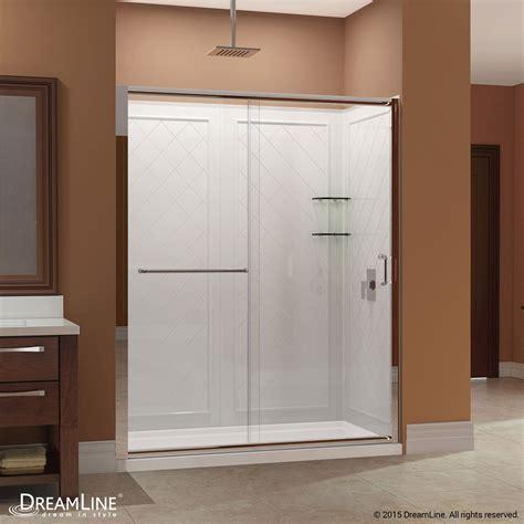 Dreamline Infinity Shower Door Dreamline Dl 6116r 04cl Infinity Z Sliding Shower Door Ebay