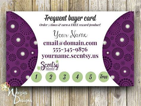 scentsy frequent buyer card template scentsy frequent buyer card business card direct sales
