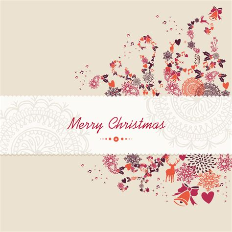 pattern christmas card exquisite pattern christmas card vector free vector