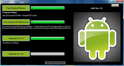 how to upgrade android os how to upgrade update android to gingerbread android os configure os updater androindupdater