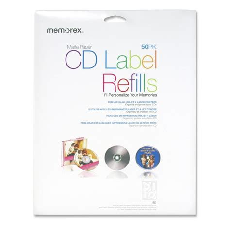 memorex cd label template printer