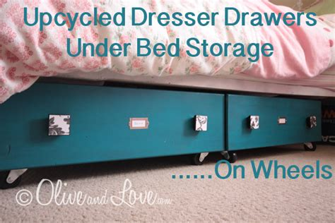 diy under bed drawers diy create under bed storage with old dresser drawers