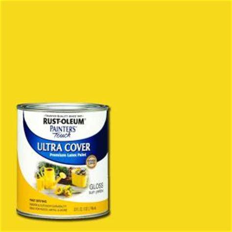 home depot paint yellow rust oleum painter s touch 32 oz ultra cover gloss sun
