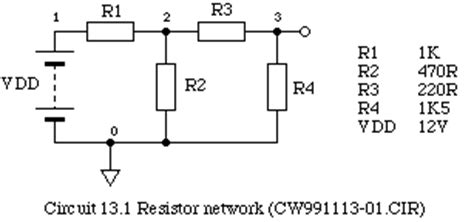 resistor network diagram phy2028 getting started with spice