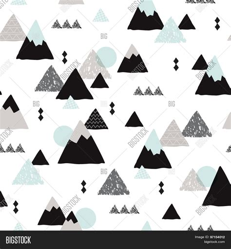 background pattern mountain seamless winter wonderland geometric japanese fuji