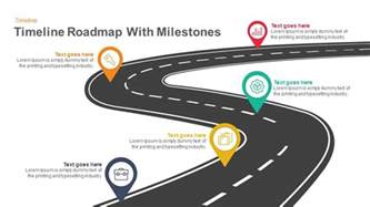 timeline roadmap with milestones keynote and powerpoint